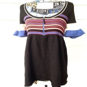 Free People Short Sleeve Wool Sweater Size M